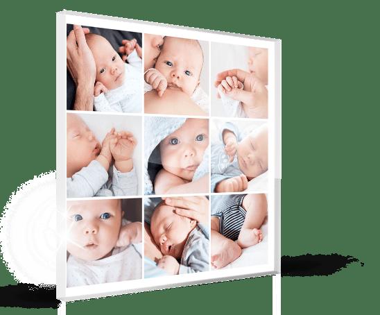 acrylic collage baby