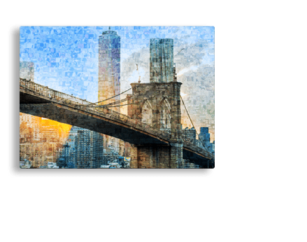 acrylic footer mosaic bridge