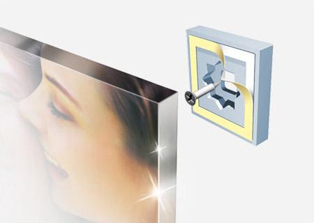 acrylic mounting floating image