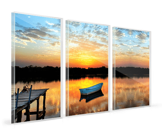acrylic multi panel boat lake