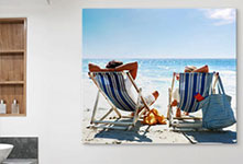 alu dibond deck chairs beach