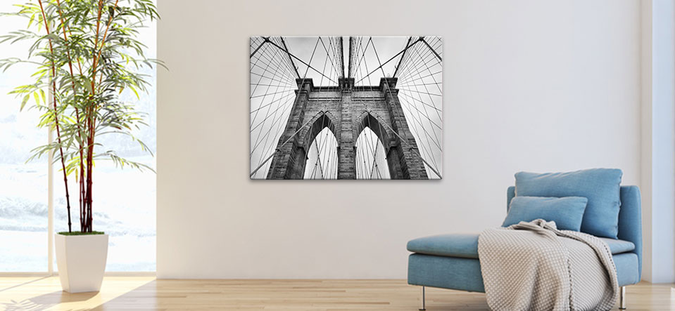 black and white metal prints appartment