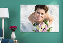 canvas bride from above