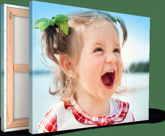 canvas landing girl shouting laughing