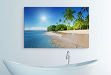 canvas meditteranean beach over sink