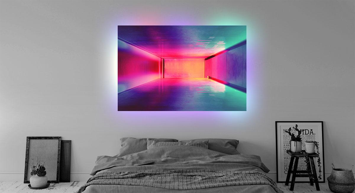 illuminating acrylic glass wall