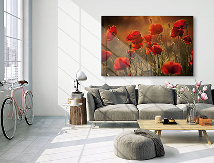living room canvas flower meadow