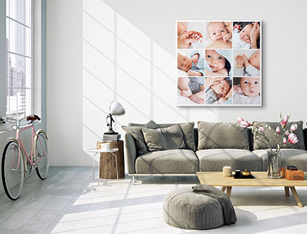 living room collage baby