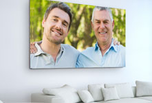 living room father son acrylic glass