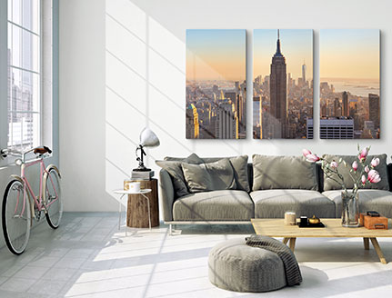 living room multi panel skyline