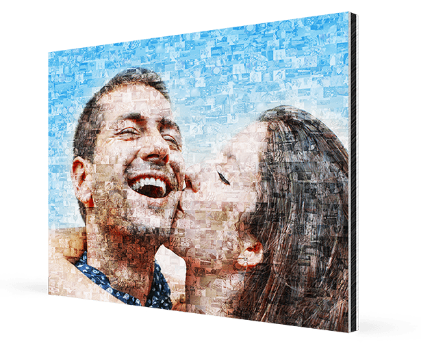 photo mosaic on aluminium kv 1