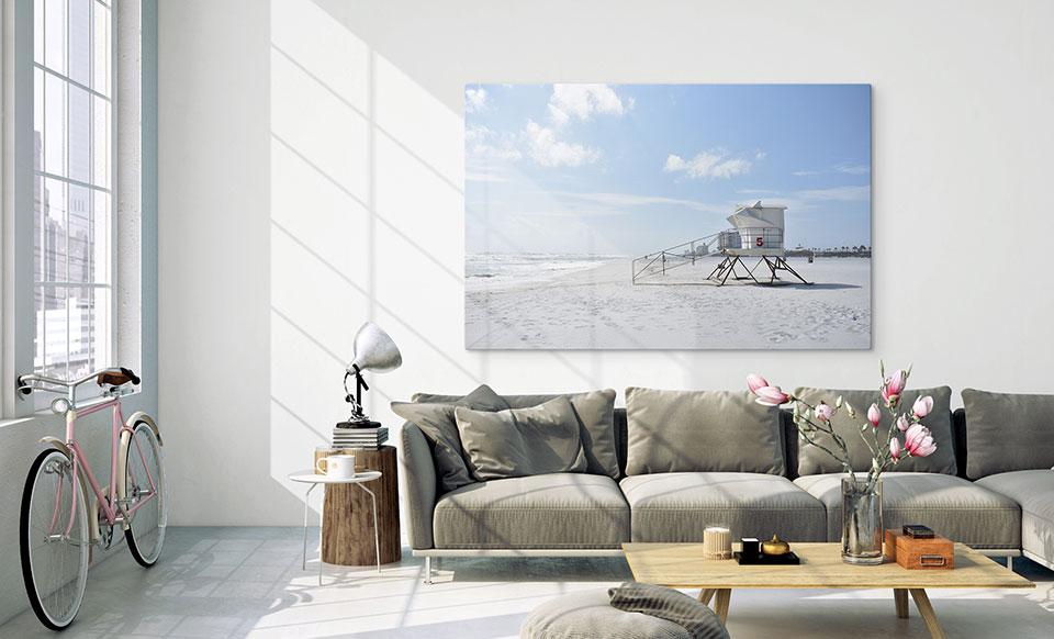 print on perspex wall