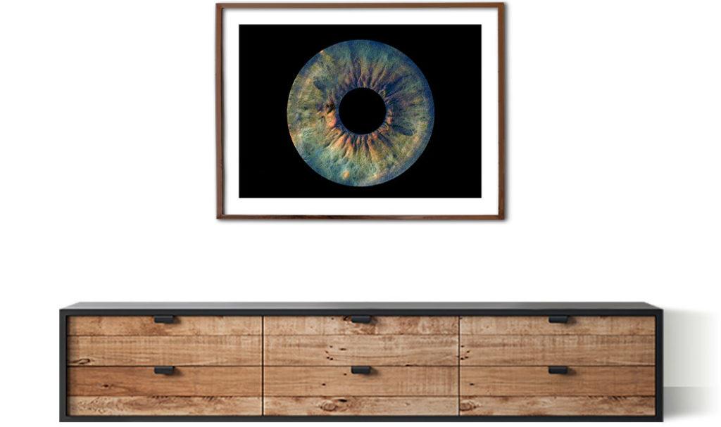 printed iris photo